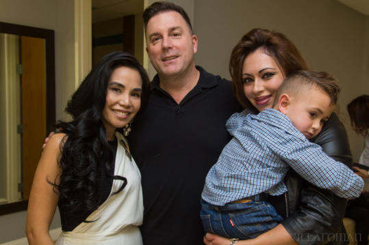 Dr. Tess and HBL Hair Care founder Patrick Dockry & family